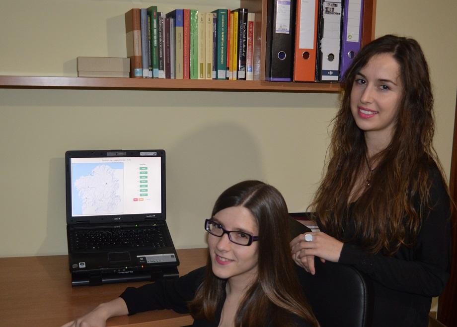 Soraya Suárez e Laura Calaza, investigadoras do proxecto.