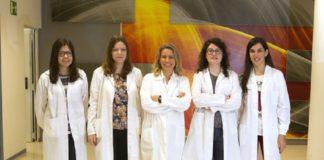 O equipo de Luisa María Seoane, no centro da foto.
