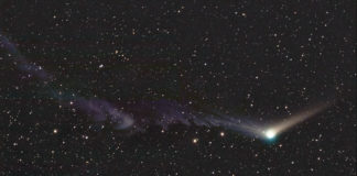O cometa Catalina.