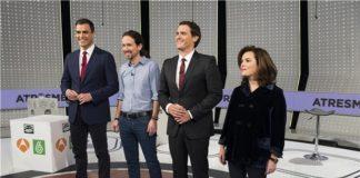Debate electoral en Antena 3.
