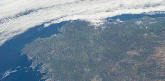 Vista de Galicia tomada en 2013 dende a Estación Espacial Internacional.
