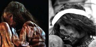 A momia analizada, que corresponde a un rapaz asasinado nun sacrificio ritual.
