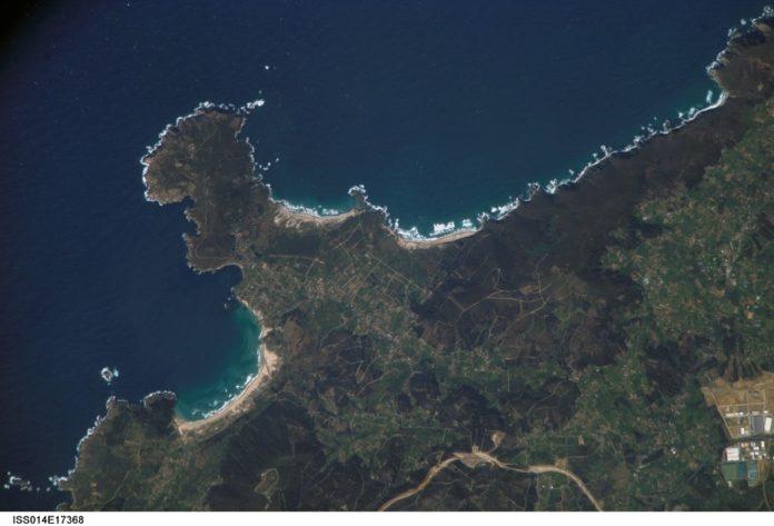 Cabo Touriñán, dende a Estación Espacial Internacional, en foto tomada no 2007.