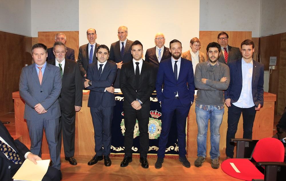 Os galardoados, tras da entrega de premios.