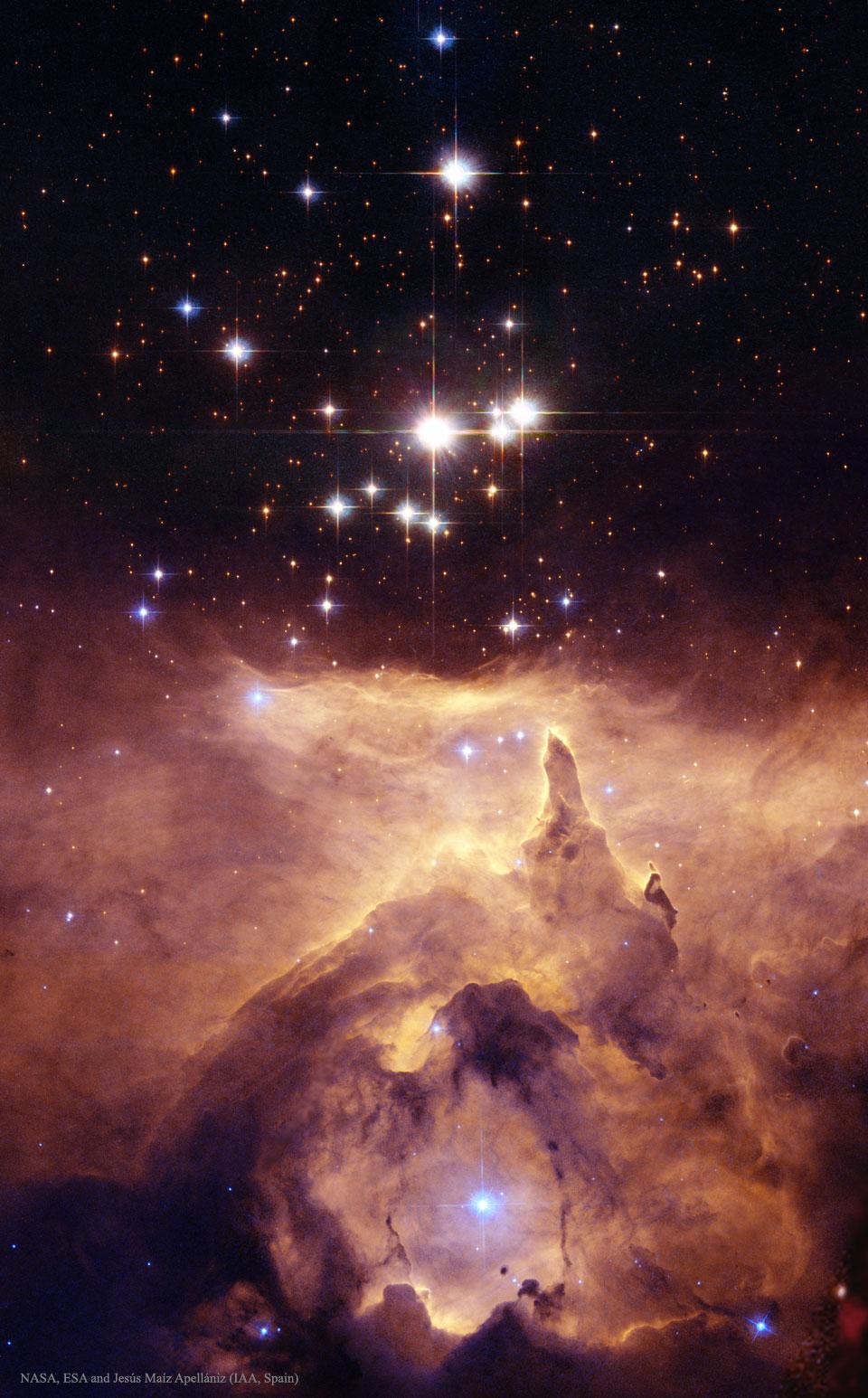 Créditos da imaxe: NASA, ESA e Jesús Maíz Apellániz (IAA, España). Agradecementos: Davide De Martin (ESA/Hubble)