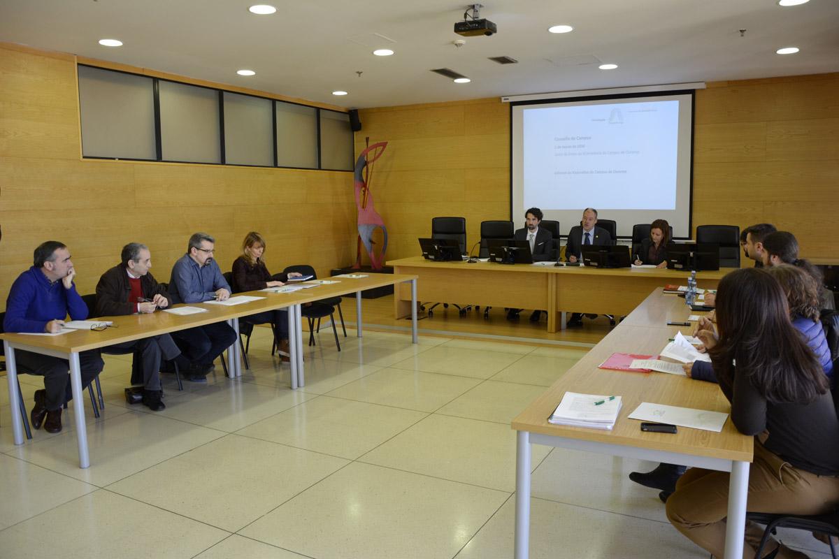 Reunión do Consello de Campus de Ourense que aprobou o inicio do doutorado.