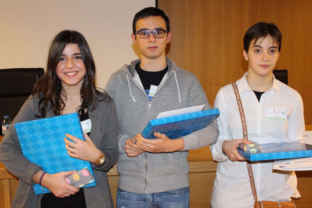 Os representantes galegos para a final da Olimpíada de Bioloxía.