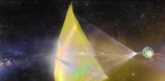 Simulación da pequena sonda e a vela.