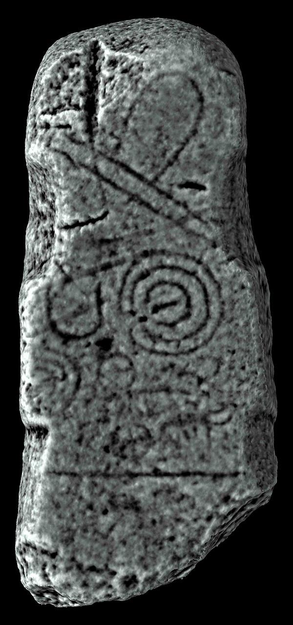 Fotogrametría da Estela de Pedra Alta.