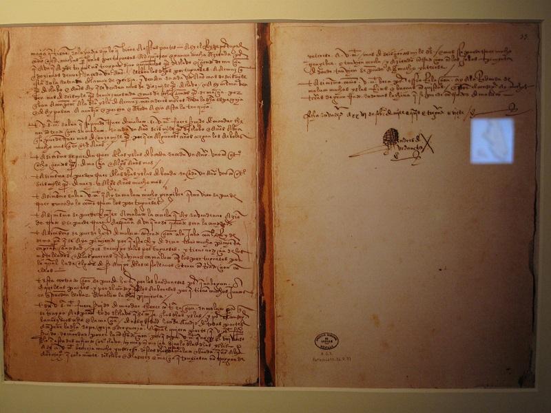 Diario de Andrés de Urdaneta, onde conta as aventuras do galego De Vigo.