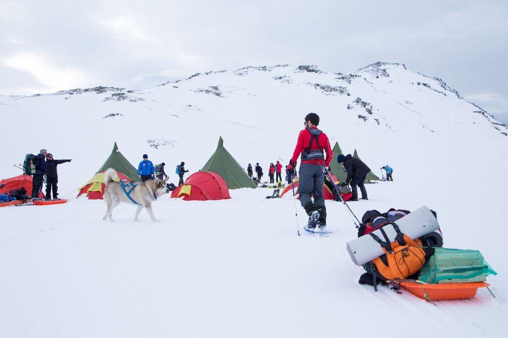 Campamento da Polar Raid.