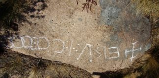 Inscrición no monte Pindo. Foto: Asociación Monte Pindo Parque Natural.