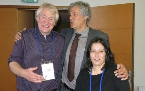 Rosa Mosquera, xunto co ministro francés de Agricultura, Sthéphane LLe Fol, e o vicepreisente da Euraf, Gerry Lawson.