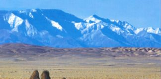Montañas de Ikh Bogd Uul, en Mongolia.