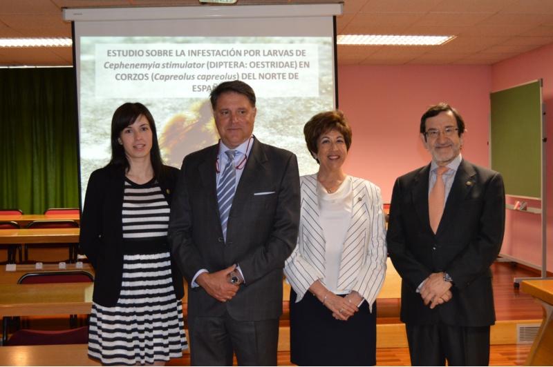 Arias, Pajares, Morrondo e Díez, na Facultade de Veterinaria da USC.