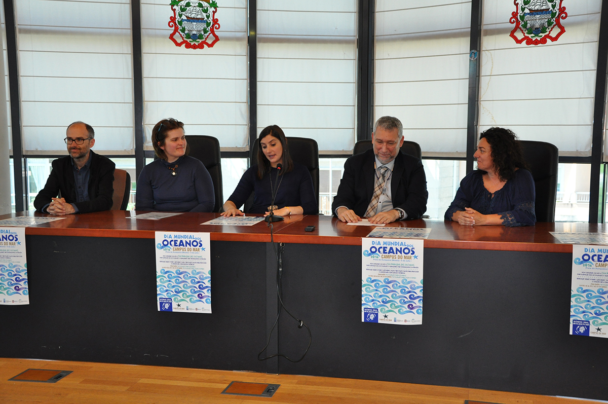 Odilo Barreiro, Sandra Mosquera, Leticia Santos, Jesús S. Troncoso e María Ortega.