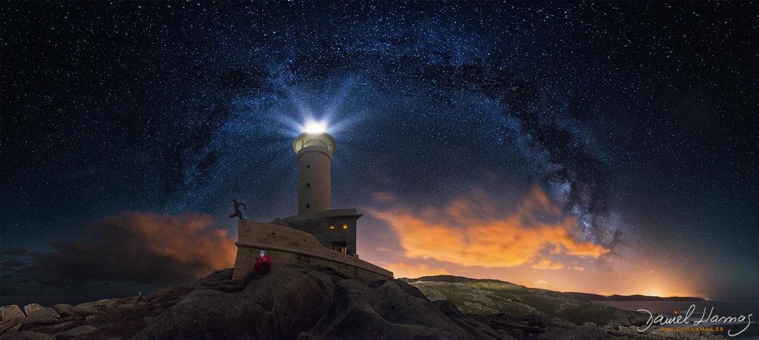 Imaxe tomada polo astrofotógrafo Daniel Llamas en Punta Nariga.