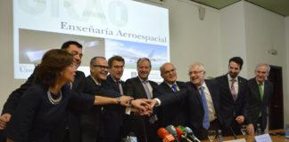 Celebración das autoridades da presentación do grao de Enxeñaría Aeroespacial.