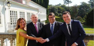 De esquerda a dereita, Beatriz Mato, Juan Viaño, Julio Abalde e Román Rodríguez /Foto: Xunta de Galicia.