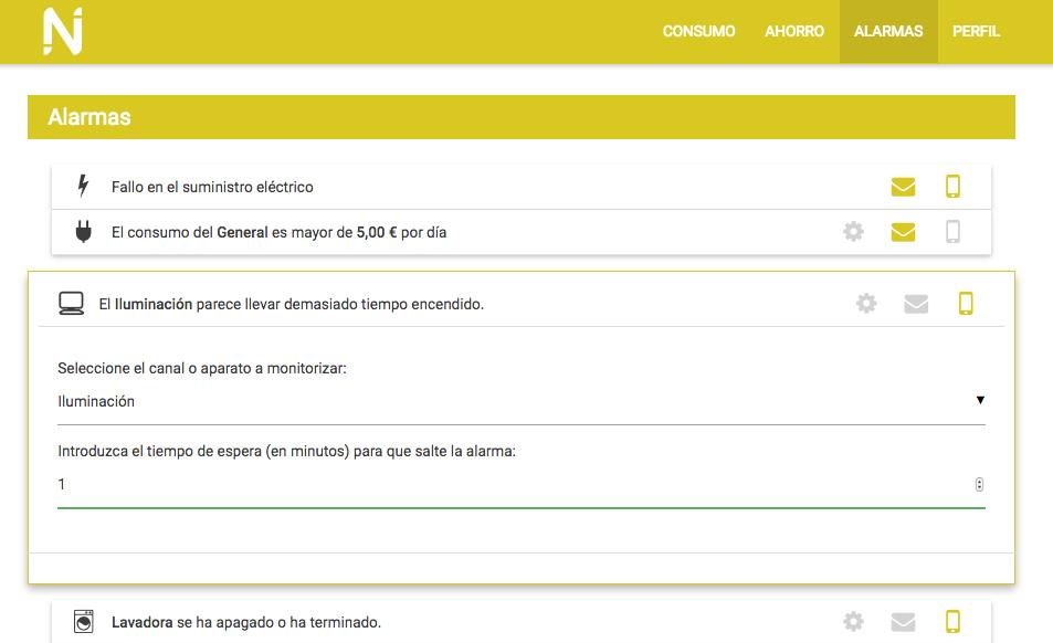 Unha das pantallas da ferramenta de NUbINGS, con indicacións personalizadas.