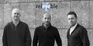 De izquierda a derecha, José Luis Alba, Manuel Ubeira y Elisardo González, impulsores de Releyeble.