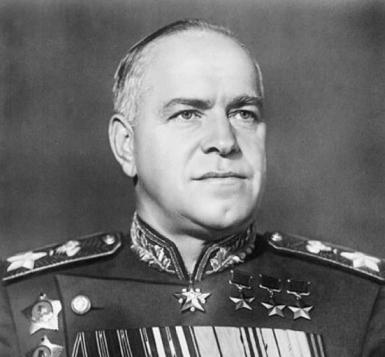 O mariscal soviético Zhukov.