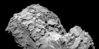 A sonda Rosetta grava unha explosión no cometa 'Chury'/ Axencia Espacial Europea.