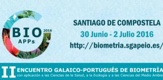 Cartel promocional do II Encontro Galego-Portugués de Biometría.