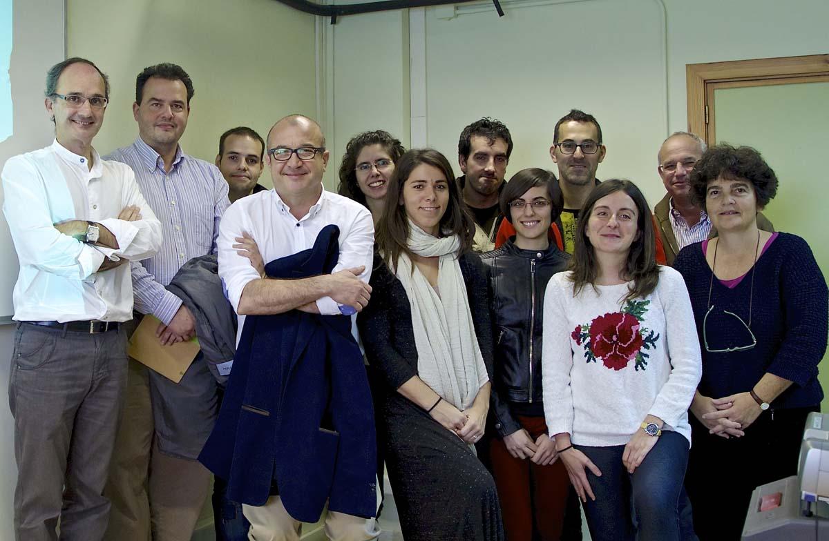 Científicos da Rede Galega de Biomateriais.