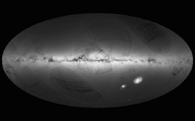Mapa das estrelas da Vía Láctea creado pola misión Gaia. ESA