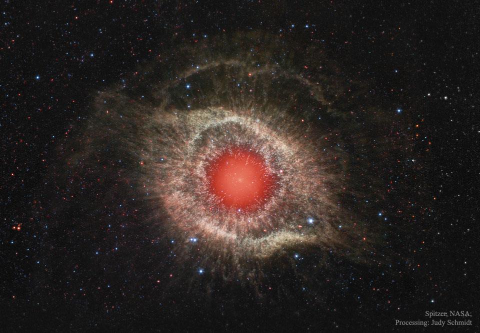 Créditos da imaxe: NASA, JPL-Caltech, Spitzer Space Telescope; Procesado: Judy Schmidt