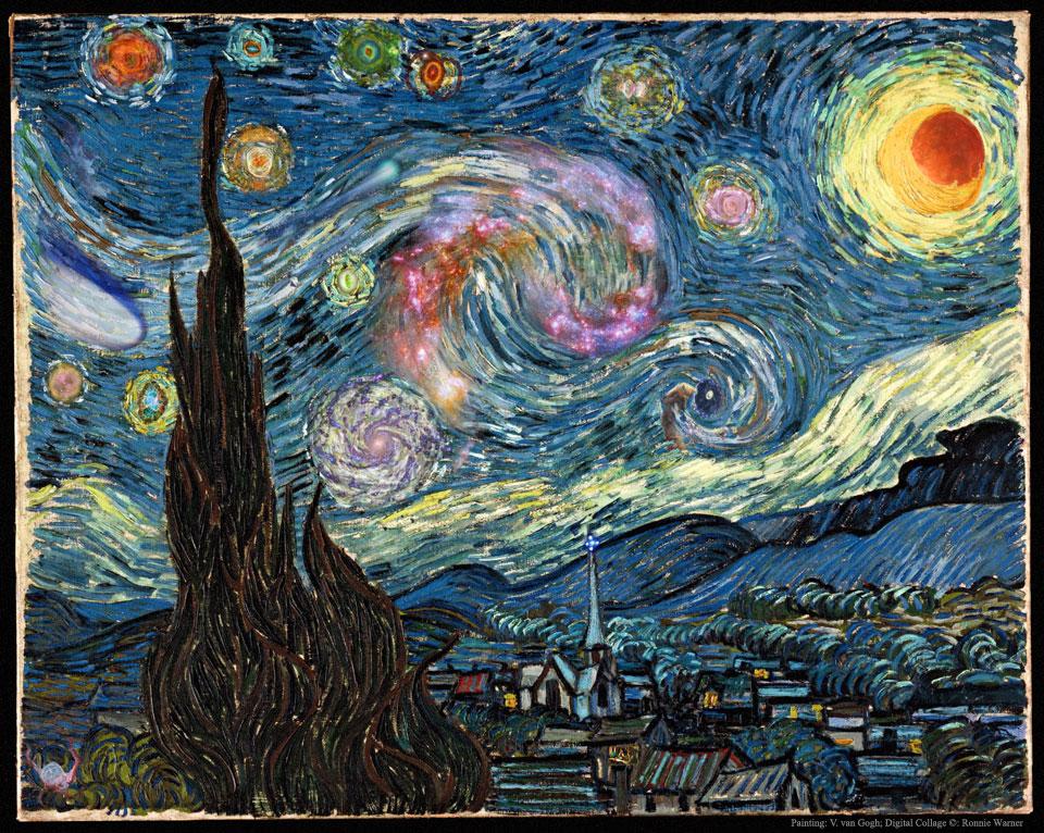 Image Credit: Vincent van Gogh; Digital Collage & Copyright: Ronnie Warner