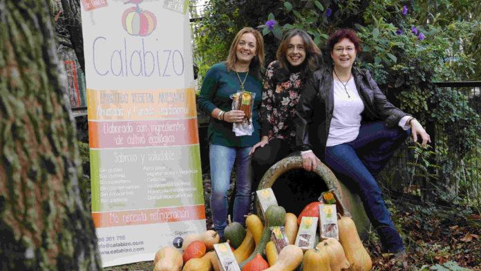 Keila Pousa, Edurne Sendra e Sofía Calvo, creadoras de Calabizo.