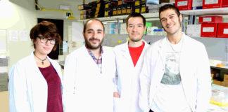 Miguel Fidalgo (segundo pola esquerda), xunto ao seu equipo no CiMUS.