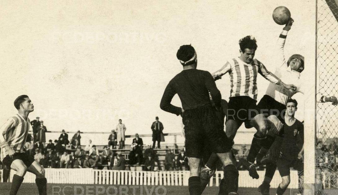 Partido Dépor-Murcia, disputado en Riazor el 1 de febrero de 1931, y recogido en el álbum