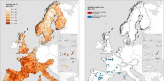 Gráfico coa lonxevidade en homes en Europa, segundo o estudo agora publicado.