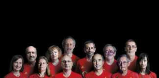 Carmen Martínez, primeira pola esquerda, xunto a outras 'figuras' como Francis Mojica, Mariano Barbacid ou Pedro Cavadas. Foto: Quo/CSIC.