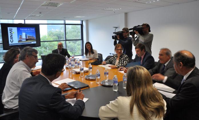Reunión do patronato do CINAE en Porto do Molle, instalacións de Zona Franca de Vigo en Nigrán.