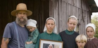 Retrato dunha familia menonita.