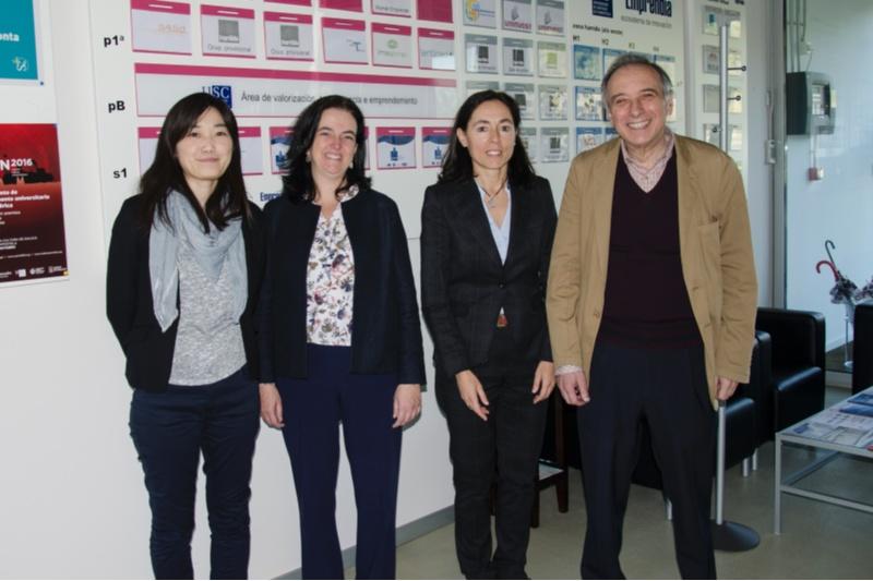 Reunión dos investigadores de Lentimed coa doutora Yamakazi.