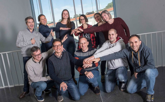 Integrantes do grupo de Química Coloidal da UVigo. Foto: Duvi.