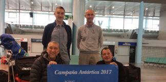 Lastra, Troncoso, López e Sampedro pasaron un mes na Antártida. Foto: Duvi.