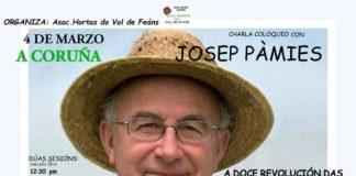 Cartel das charlas na Coruña de Josep Pàmies.