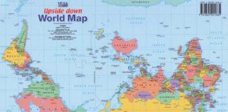 O mundo ao revés: o mapamundi Upside Down que é un éxito en Australia.