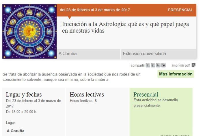 A información sobre o curso desapareceu da web da UNED, que aduce