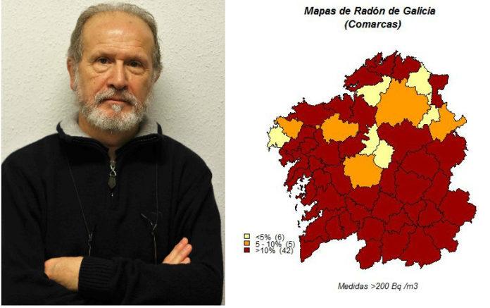 Juan Miguel Barros é, xunto a Alberto Ruano, autor do Mapa do Radon en Galicia.