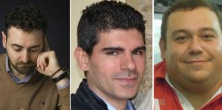 De esquerda a dereita, Pablo S. Otero, Manuel Pazos e Luís Taboada.