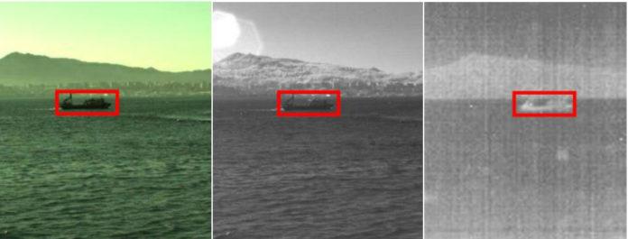 Unha mostra das imaxes captadas e tratadas co dispositivo SEERS.