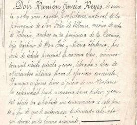 Testamento do século XIX no que se describen síntomas semellantes aos da SCA36. Arquivo de Ramón Moreira.