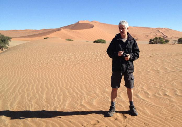 Xurxo Mariño, durante unha das etapas da súa viaxe. Foto: Eli Couto.
